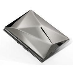 Diamond Card Case Gloss Gunmetal, $30, now featured on Fab.  http://fab.com/2f5g7z