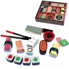 Kid needs sushi practice?  Buy them this wooden sushi play set. ($19.99)