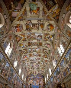 Sistine Chapel, Vatican City, Italy...I've seen a TON of beautiful churches all through Europe and Russia, but this has to take the crown!