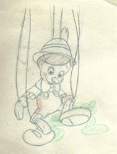 vintage drawing sheets pinocchio - Cerca con Google