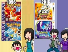 This is totally me every time a new Pokemon game comes out.