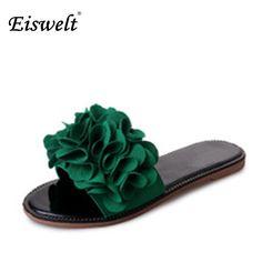 Eiswelt New 2017 Women Sandals Bohemia Flowers Woman Beach Summer Sandals  Slip-Resistant Flat Shoes 77ea26588