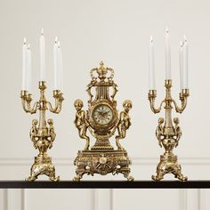 You'll love the 3 Piece Grand Clock and Candelabra Set at Wayfair - Great Deals on all Décor  products with Free Shipping on most stuff, even the big stuff.