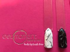 Marble Nails - Meet Me at the Chapel and Raven's Kiss #gelmoment