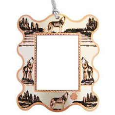 Wolf Photo Frame Ornament