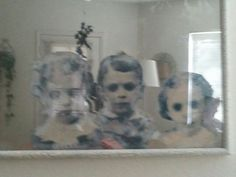 One 30 x 44 inch glass picture frame from Goodwill only 24.99  2 cans of looking glass spray paint by Krylon  1 container black acr...