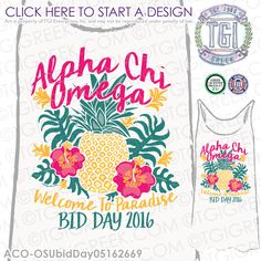 TGI Greek - Alpha Chi Omega - Spirit Week - Recruitment - Greek Apparel…