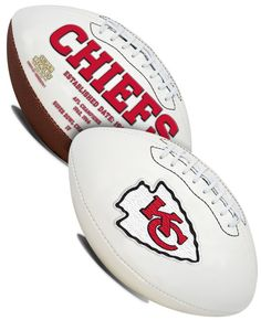 This full size football features an embroidered team logo prominently displayed on the front with team history listed on the back. The classic team balls has 3 smooth white panels which provide ample