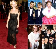 Look back at these stars' first strolls down the Academy Awards red carpet