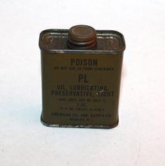 Tin Poison Container - Junk Drunk Jones