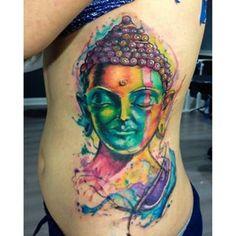 buddha watercolor - Google zoeken Buddha Tattoo Design, Buddha Tattoos, Back Tattoos, Cool Tattoos, Buddhism Tattoo, Fresh Tattoo, Buddha Art, Skin Art, Inked Girls