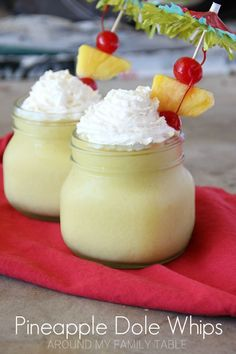 Recreate one of the most popular Disney treats at home with this copycat recipe for Pineapple Dole Whips!