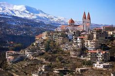 Bcharre, Lebanon~~ At an altitude of 1650 meters, Bcharré is close to the Qadisha Valley, roughly four hours from Beirut. The road leading to it is among the most scenic in the country, adorned with snowy peaks, canyons, olive groves, vineyards and valleys.