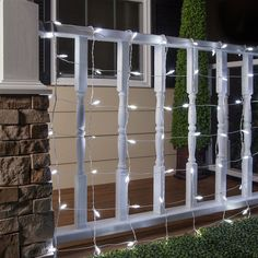 Net lights are perfect for wrapping bushes, fences and shrubs!