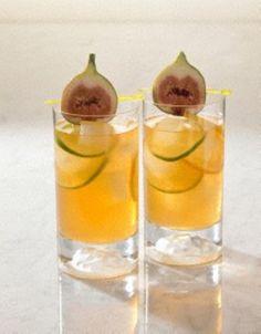 Zitronentee mit Wodka und Feige
