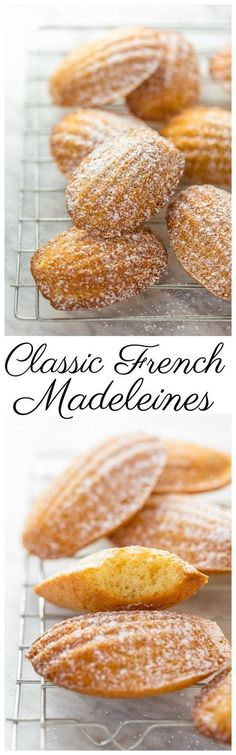 Today I'm teaching you exactly how to make Classic French Madeleines! They t… Today I'm teaching you exactly how to make Classic French Madeleines! They taste just like the ones you'd find in a Parisian boulangerie! Köstliche Desserts, Dessert Recipes, French Desserts, French Recipes, Plated Desserts, Snacks Recipes, French Food, Madeleine Recipe, French Pastries