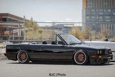 BMW E30 3 series cabrio slammed