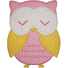 Owl Applique                                                                                                                                                                                 More