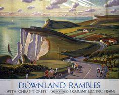 BR Vintage Travel Poster von A … - ferien Posters Uk, Train Posters, Railway Posters, Cool Posters, Poster Prints, Art Prints, British Travel, National Railway Museum, Tourism Poster