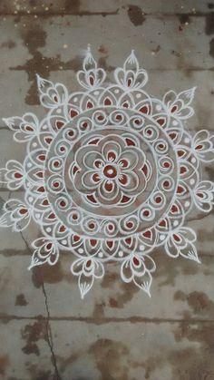 Rangoli Designs Flower, Rangoli Border Designs, Small Rangoli Design, Rangoli Designs Images, Rangoli Ideas, Rangoli Designs With Dots, Rangoli Designs Diwali, Kolam Rangoli, Flower Rangoli