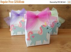 VENTA unicornio favores favores de partido unicornio cajas