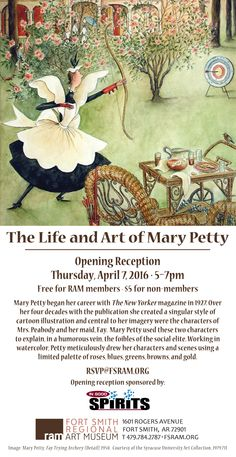 The Life and Art of Mary Petty. Opening reception April 7, 5-7pm