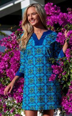 c23cd3e26da Starry Night Prescot Lane Tunic Dress by All for Color #preppystyle  #allforcolor #prepobsessed