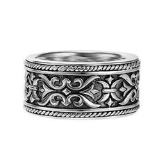 Men's Scott Kay Sterling Silver Band - Size 10.5 - Item 19018324   REEDS Jewelers. I think this is really beautiful.