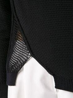 f9fa4ef2c5c6f6 3.1 Phillip Lim asymmetric pointelle jumper Knitwear Fashion, Knit Fashion,  Summer Knitting, Knitting