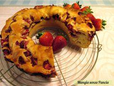 Ciambellone alle fragole senza grassi, ricetta senza olio o burro