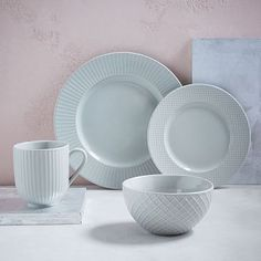 Textured Dinnerware Set - Cloud #westelm