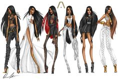 Aaliyah Collection by Daren J