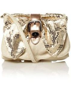 Fiorelli Cupid snake bow across body bag.  A cute bag for day or night and only AUD$58!