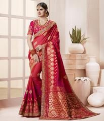 Buy online new fabulous saree and embroidered saree. Buy this latest embroidered, resham and zari work designer traditional saree for bridal and wedding. Designer Sarees Wedding, Latest Designer Sarees, Bridal Sari, Saree Wedding, Wedding Wear, Bridal Dresses, Indian Dresses, Indian Outfits, Indian Clothes