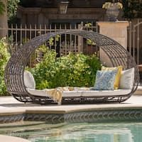 Shop for Costway Rattan Sofa Furniture Round Retractable w/canopy Daybed Outdoor. Get free delivery On EVERYTHING* Overstock - Your Online Garden & Patio Shop! Get in rewards with Club O! Outdoor Lounge, Outdoor Seating, Outdoor Rooms, Outdoor Living, Outdoor Stuff, Outdoor Patios, Outdoor Fun, Outdoor Decor, Daybed Canopy