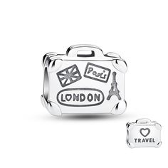 """Suitcase Silver Charm❤Glamulet jewelry,fits all brands bracelet.Wonderful gifts for family,lover,friends...Get 5%off on www.glamulet.com with coupon code """"PIN5"""""""