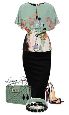 """""""7/08/17"""" by longstem on Polyvore featuring Etro, Christian Louboutin, Rebecca Minkoff, 1928 and Bourbon and Boweties"""