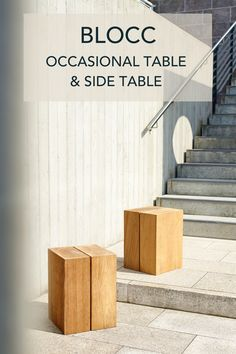 outdoor furniture | outdoor table | outdoor seating | modern furniture| teak table | garden furniture | garden table | occasional table | teak | outdoor furniture ideas | outdoor furniture patio | beistelltisch | gartenmöbel | outdoormöbel Outdoor Settings, Perfect Match, Teak, Stairs, Patio, Modern, Table, Home Decor, Trendy Tree