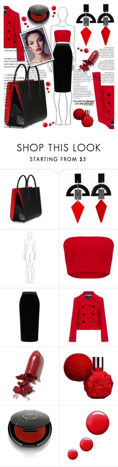 """Hahaha I don't know you..."" by she-fashionlove ❤ liked on Polyvore featuring Christian Louboutin, Toolally, Roland Mouret, McQ by Alexander McQueen, LAQA & Co., Rituel de Fille and Topshop"