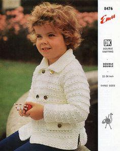 PDF Vintage Baby Children  Knitting Pattern CHUNKY Rustic