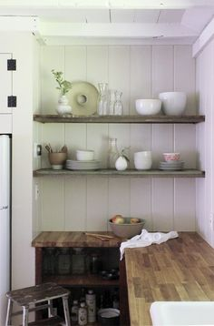 kitchen shelves Catskill Cabin by Jersey Ice Cream Co, Remodelista