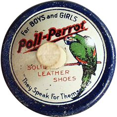 Old, Poll-Parrot Shoes Advertising, Spinning Top