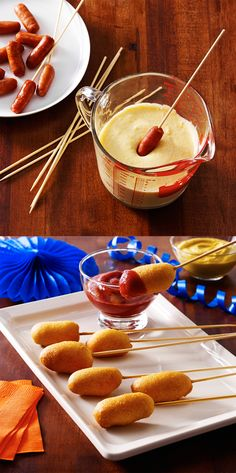 Our Lit'l Smokies Corn Doggies are a simple way to impress the biggest football fans at your party.
