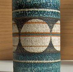 Potshots: Troika cylinder vase by Linda Hazel. Vintage Pottery, Vintage Ceramic, Cylinder Vase, Vases, Portmeirion Pottery, Pottery Designs, Pottery Ideas, Elements And Principles, Ceramic Techniques