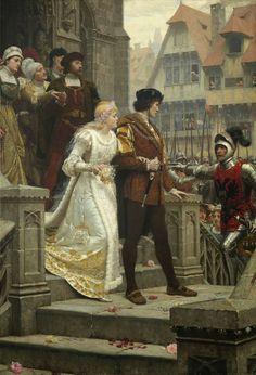 """To Arms! - Edmund Blair Leighton (Brittish 1852-1922), oil on canvas 60"""" x 41.5"""""""