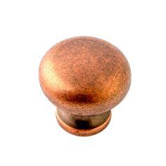 Antique Copper 1.25-Inch Round Knob Tumbled, $2.95 on bellacor.com