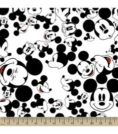 Disney® Mickey Mouse Print Fabric-The Many Faces of Mickey