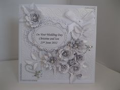 pinterest handmade cards for silver wedding - Google Search
