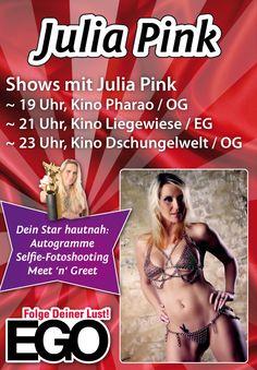 An unserem Eröffnungsabend dürfen wir auch Julia Pink begrüßen - heißer kann es wohl nicht mehr werden... #juliapink #micaelaschäfer #erotik #erotikshow #sex #eroticlifestyle #EGO #sexshop #erotikshop