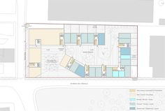 OPERASTUDIO - Project - Medici del Vascello 14 Social Housing #Milan #Typical floor, program